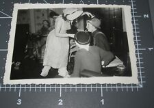 1940's Halloween Party Costume SCARY Face MASK Spooky Vintage Snapshot PHOTO #3