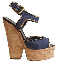 GIUSEPPE ZANOTTI Platform Sandal Denim  Size  US 7.5 EU 37.5