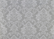 ROMAN BLIND BLACKOUT PRESTIGIOUS SEASONS ELMSLEY VELLUM DAMASK SILVER GREY STEEL