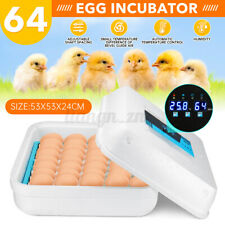 64 Egg Incubator Fully Automatic Digital LED Hatch Turning Chicken Duck