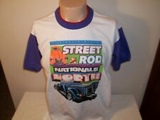 Vtg 1997 NSRA STREET ROD NATIONALS NORTH KALAMAZOO MICHIGAN RINGER T-SHIRT L