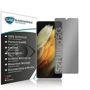 """Slabo Blickschutz für Samsung Galaxy S21 Ultra (5G) SCHWARZ """"View Protection"""""""