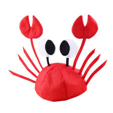 Adult Funny Lobster Crab Sea Animal Cute Cap Hat Costume Party Accessory Props