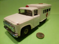 TIN TOYS BLEACH CHINA AMERICAN TRUCK - AMBULANCE - VERY GOOD - FRICTION