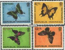 Indonesia 421-424 (complete issue) unmounted mint / never hinged 1963 Butterflie