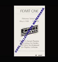 Star Wars The Empire Strikes Back 1980 Advance Screening Ticket 5/06/80 COA
