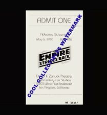 Star Wars The Empire Strikes Back 1980 Advance Screening Ticket 5/06/80 COA