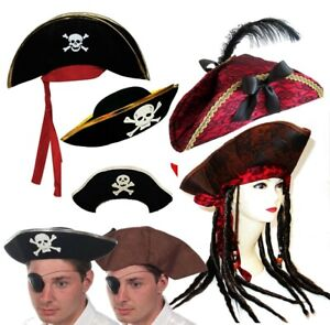 Pirate Hats Pirate of Caribbean Fancy Dress Party Hat World Book Day 8 Designs