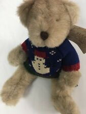 Russ Bears From The Past Fully Jointed Birchwood Snowman Sweater