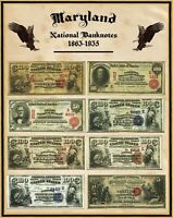 """New Mexico  U S Large National Bank Notes 16/""""x20/"""" Poster Part of a State set"""