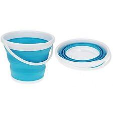 Brand NEW BLUE WONDER Silicone Pieghevole pieghevole Bin Secchio di acqua