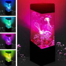 Jellyfish Lamp Shade Lava Led Electric Mood Aquarium Desk Home Bedroom Decor UK