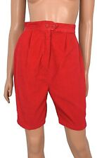 Vintage 50s Sally Togs RED CORDUROY Walking Shorts 16 wale Cotton Bermuda sz S