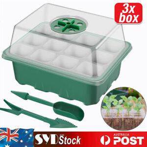 3 Set 12 Hole Plant Seeds Grow Box Propagation Nursery Seedling Starter Tray