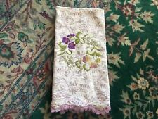 NEW Anthropologie Dish/Tea Towel Floral Embroidered Gift Idea