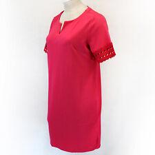 Talbots Plus Spring Summer Pink Short Sleeve V-Neck Dress 0X fits XL