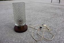 Vintage Mid Century Bubble Glass Table Desktop Lamp Working