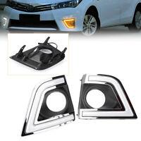 2PCS LED Daytime Running Fog Lights Lamp DRL For Toyota Corolla 2014 2015 GZ