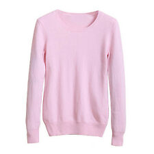 Ladies Casual Fashion Wool Womens Cashmere Work Sweater UK Sz 6-18 Pink 8