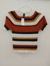 H&M Womens short Sleeved Striped Top Size Small