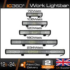 IC360 4K LED 12 - 24v High Powered Work Light Bar Flood Offroad Roof Light 4x4