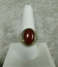 Sterling Silver Large Carnelian Stone Ring~Size 10