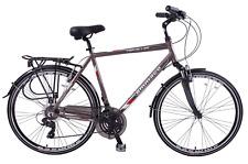 """Ammaco Traveller 700c Mens Hybrid Bike Front Suspension Alloy 19"""" Frame Grey"""
