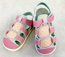 New See Kai Run Basics Spencer Fisherman Sandals Pink Toddler Girls Sizes 4 & 8