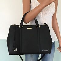 NEW KATE SPADE Black Saffiano Leather Carryall Tote Shoulder Crossbody Bag Purse