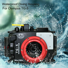 TG4 Waterproof Camera Case for for Olympus TG5,60m//195ft Diving Camera Cover Shell Housing Frame Protector with Anti-fog Pads and Many Useful Accessories for Various Underwater Photography Shooting