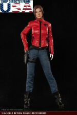 "1/6 Leather Jacket Set Resident Evil For 12"" Hot Toys PHICEN Female Figure USA"