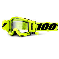 100 Accuri Forecast Mud Goggles - Fluo Yellow Clear Lens