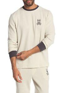 Psycho Bunny Men's Bunny Logo Waffle Knit Thermal Lounge Long Sleeve T-Shirt