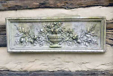 """Roses and Urn Decorative Wall Sculpture relief plaque 33.5"""""""