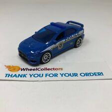 Mitsubishi Lancer Evolution X Police * Blue * Matchbox LOOSE * F407