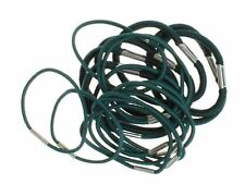 18 Bottle Green Thick And Thin Hair Elastics Hair Bands Bobbles School Colours