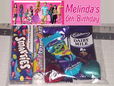 12 Personalised Birthday Party Lolly / Loot Bags - Barbie Dream House Print