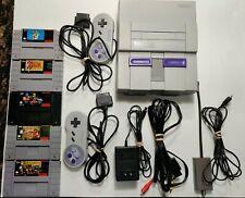 Super Nintendo SNES Console with 5 classic games (Read Description)