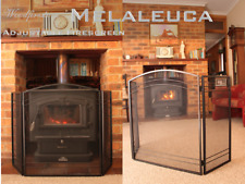 (WOODFIRESTOVE) FIRESCREENS / FIRE GUARD 3 Panel Arched Fireplace Screen (Mel)