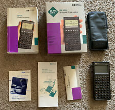 Hp 48s Scientific Graphing Calculator w/ case, manual, and quick reference guide