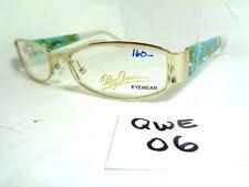 New OLEG CASSINI Eyeglasses Frame OC0311 770 Blue Brown White (QWE-06)