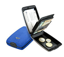 Tru Virtu Leder Kreditkarten-Etui RFID-Schutz Portemonnaie Leather Electric Blue