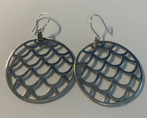JOHN HARDY Kali Disc Dot sterling silver earrings hoop Large