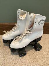 Vintage Roller Star Roller Derby Skates -Womens Size 6 White Black Wheels