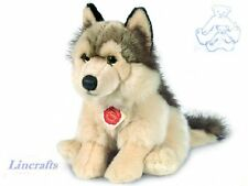 Sitting Wolf Plush Soft Toy by Teddy Hermann. Sold by Lincrafts. 92738 REDUCED