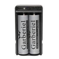 2pcs 4000mah 3.7V 18650 Li-ion Flat Top Rechargeable Batteries Vape+Dual Charger