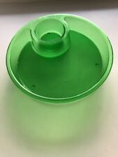Pampered Chef ~ Chip N Dip platter ~ Green ~ Acrylic ~ Preowned ~