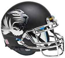 MISSOURI TIGERS NCAA Schutt Authentic XP MINI Football Helmet MATTE BLACK/CHROME