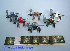 Lego Bionicle Set of Six RAHAGA - Complete, instructions, spinners & ripcords