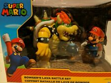 Nintendo Super Mario Bowser Vs Mario Diorama Figure 3 Pack For ages 3+